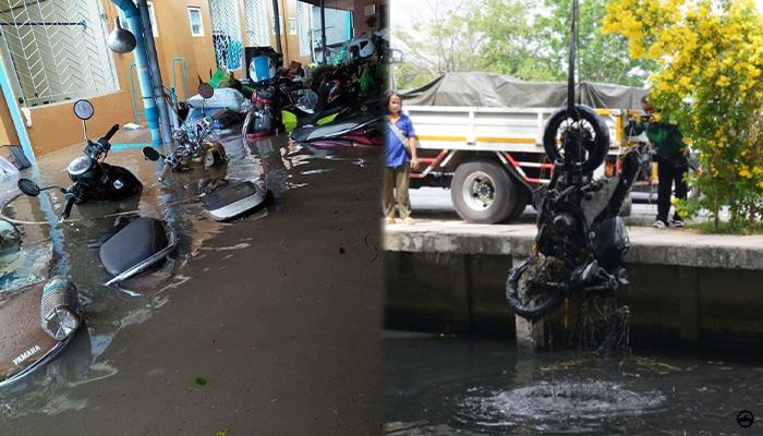 การซ่อมรถมอเตอร์ไซด์ จมน้ำด้วยตนเอง